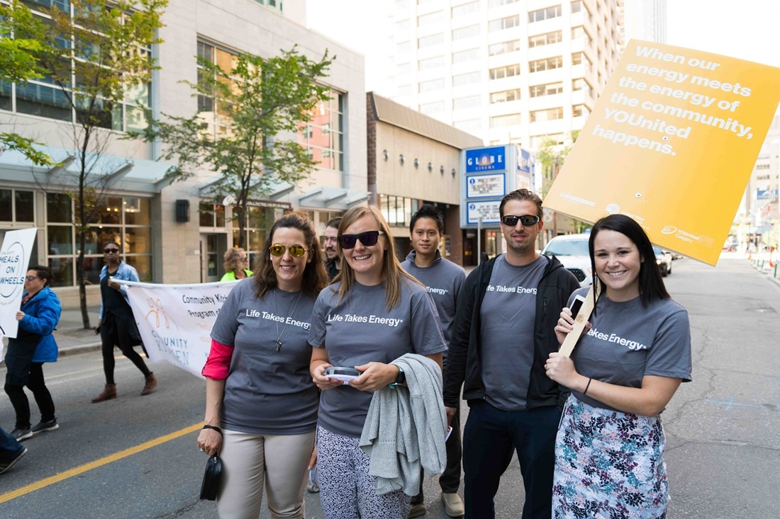 Enbridge employees at launch parade